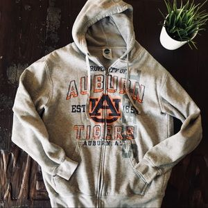 AUBURN TIGERS Full Zip Hoodie Jacket Men's MEDIUM
